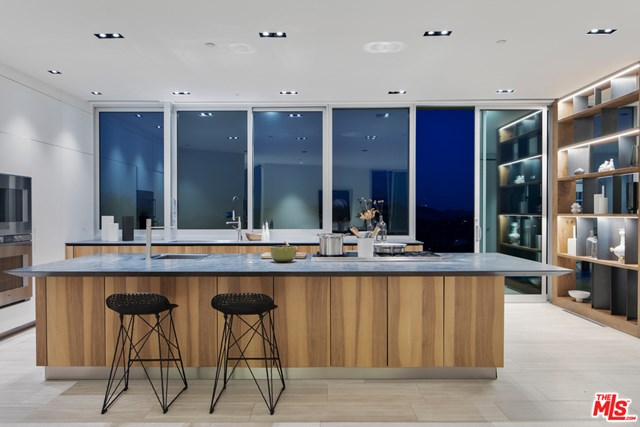 Kitchen in a $11,950,000 Los Angeles home for sale