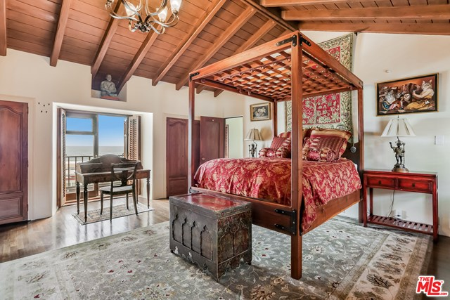 Bedroom in a $10,900,000 Santa Monica home for sale