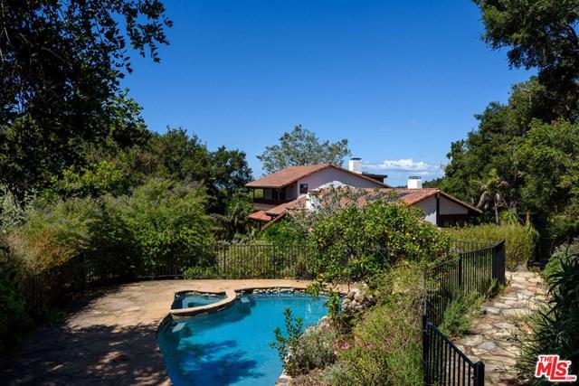 Pool in a $4,250,000 Santa Barbara home for sale