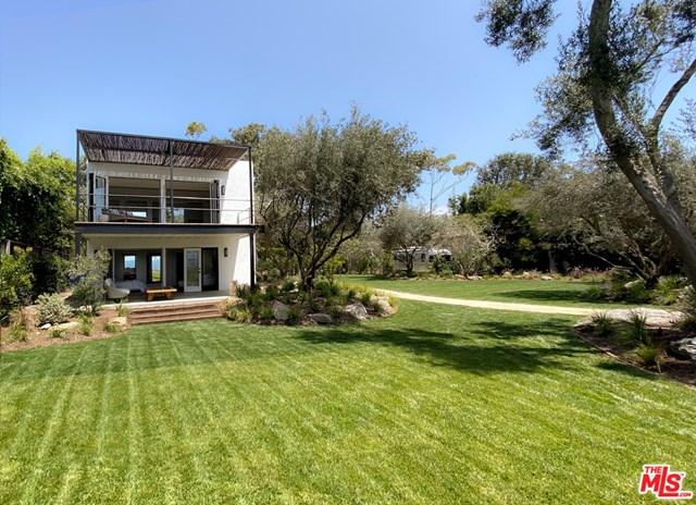 Backyard in a $27,500,000 Malibu home for sale