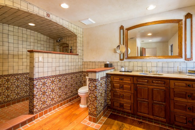 Bathroom in a $6,995,000 Palm Springs home for sale