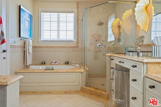 Bathroom in a $49,000,000 Beverly Hills home for sale