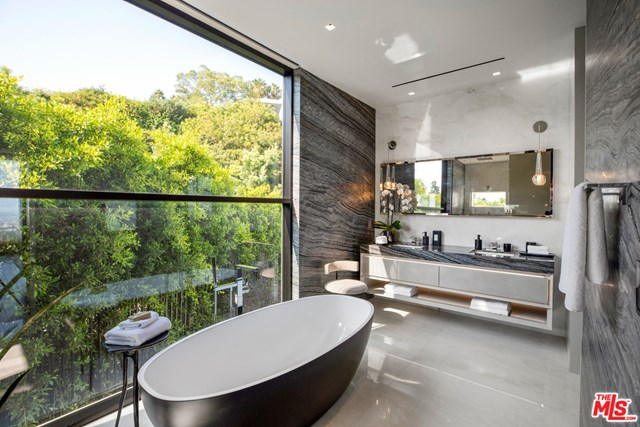 Bathroom in a $46,500,000 Beverly Hills home for sale