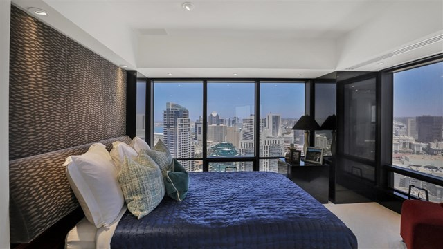 Bedroom in a $5,199,000 San Diego home for sale