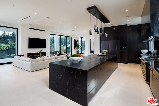 Kitchen in a $78,000,000 Los Angeles home for sale