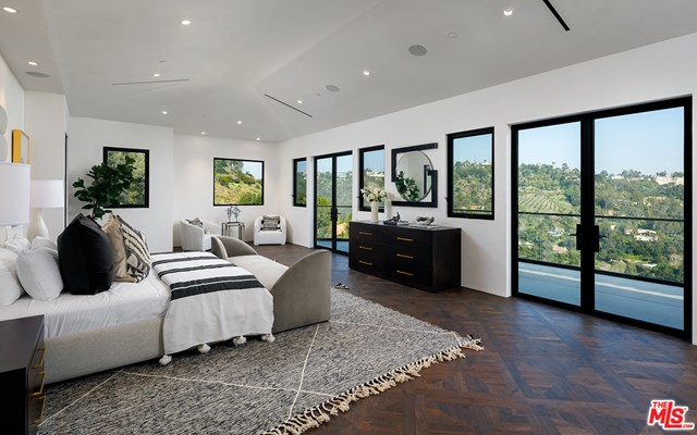 Bedroom in a $78,000,000 Los Angeles home for sale