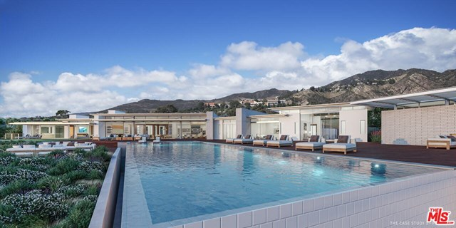 Pool in a $75,000,000 Malibu home for sale