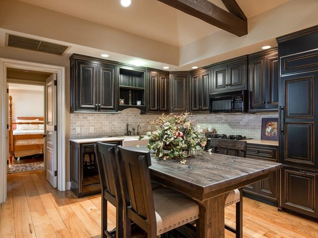Kitchen in a $48,000,000 Woodside home for sale