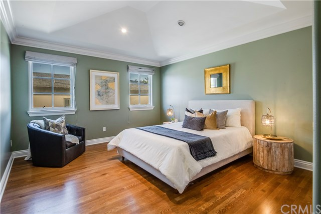 Bedroom in a $6,498,000 Santa Monica home for sale