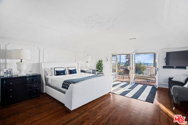 Bedroom in a $12,995,000 Santa Monica home for sale