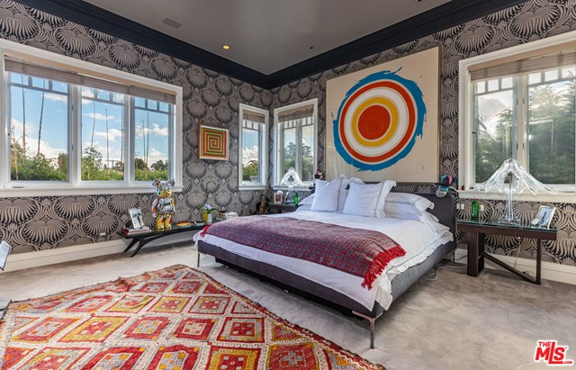 Bedroom in a $13,995,000 Santa Monica home for sale