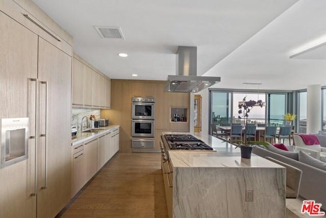 Kitchen in a $15,900,000 Santa Monica home for sale