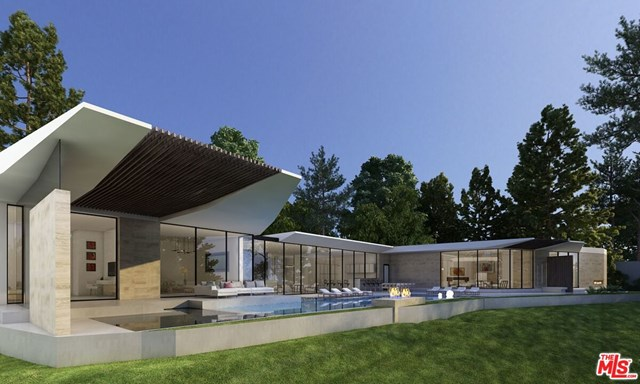 Facade in a $9,995,000 Beverly Hills home for sale
