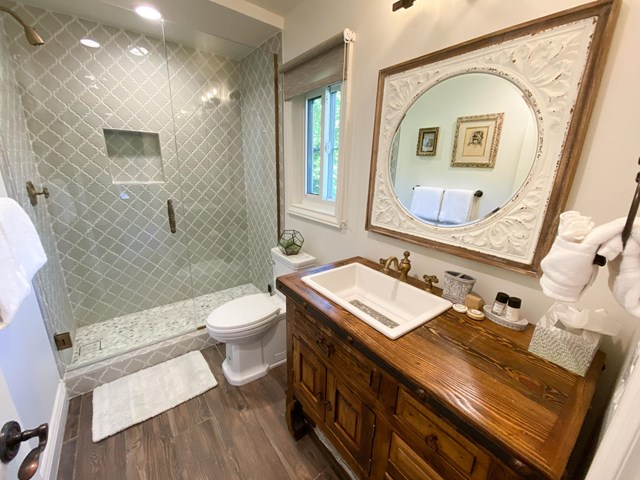 Bathroom in a $3,979,000 Palm Springs home for sale