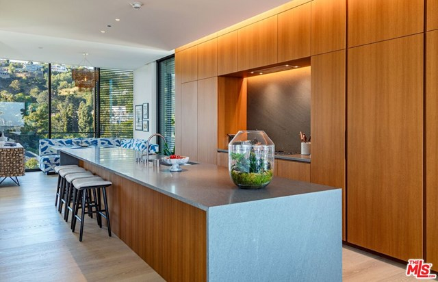 Kitchen in a $18,500,000 West Hollywood home for sale
