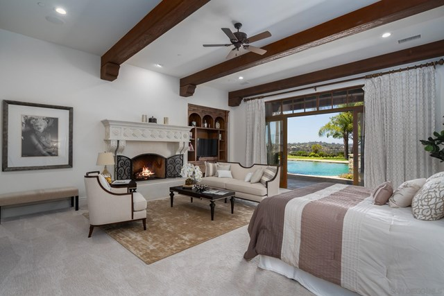Bedroom in a $8,495,000 San Diego home for sale