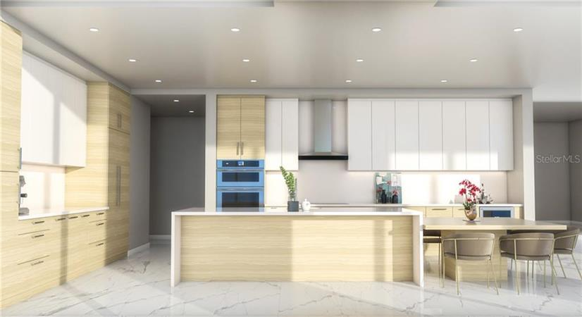 Kitchen in a $7,299,000 St. Petersburg home for sale