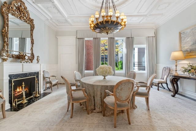 Dining room in a $10,500,000 Chicago home for sale