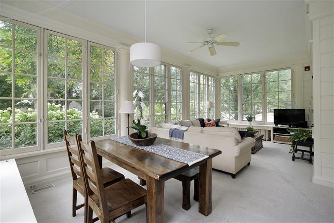 Dining room in a $1,350,000 Evanston home for sale