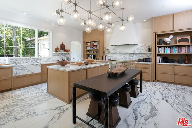 Kitchen in a $32,000,000 Los Angeles home for sale