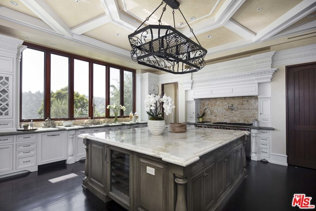 Kitchen in a $23,750,000 Los Angeles home for sale