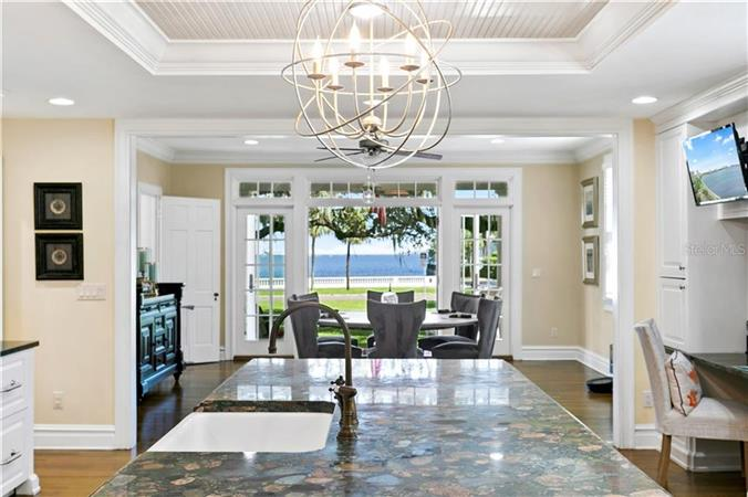 Dining room in a $4,175,000 TAMPA home for sale