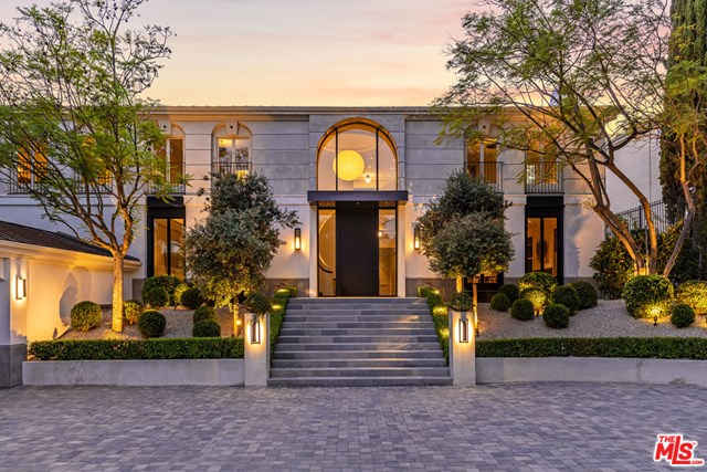 Facade in a $11,995,000 Beverly Hills home for sale
