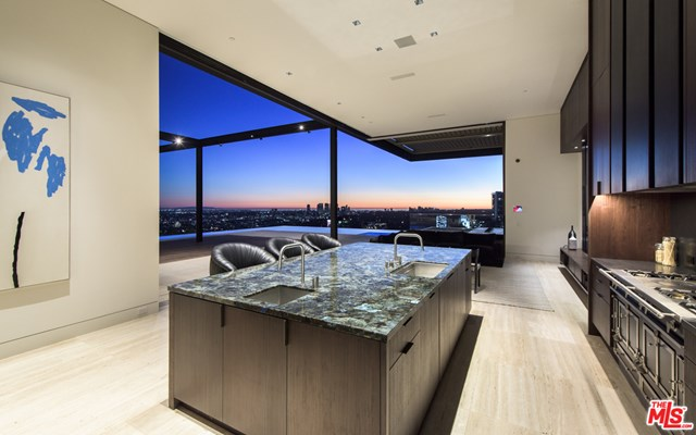Kitchen in a $29,500,000 Los Angeles home for sale