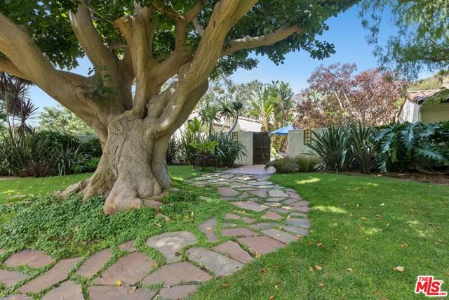 Backyard in a $9,995,000 Malibu home for sale
