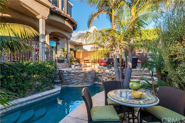 Pool in a $19,500 per month Manhattan Beach home for rent