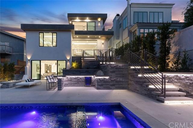 Pool in a $5,199,000 Manhattan Beach home for sale