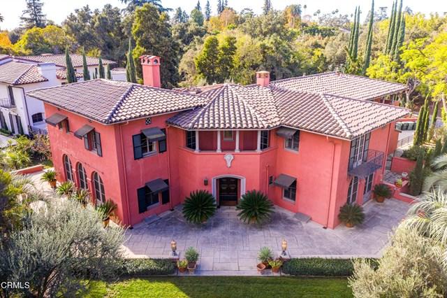Facade in a $4,150,000 Pasadena home for sale