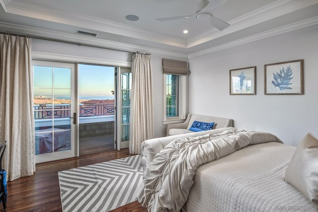 Bedroom in a $15,000,000 San Diego home for sale
