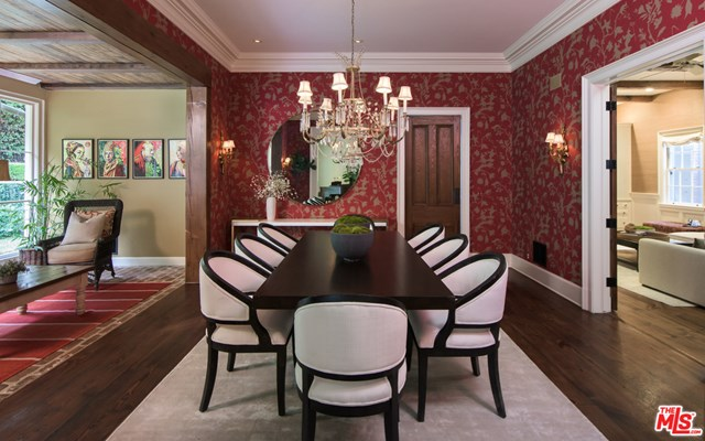 Dining room in a $17,999,000 Pacific Palisades home for sale