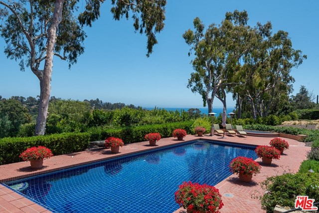 Pool in a $26,500,000 Santa Barbara home for sale