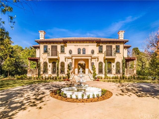 Facade in a $12,360,000 Pasadena home for sale
