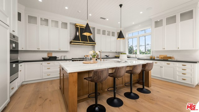 Kitchen in a $24,995,000 Los Angeles home for sale