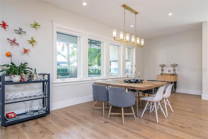 Dining room in a $2,449,000 Tampa home for sale