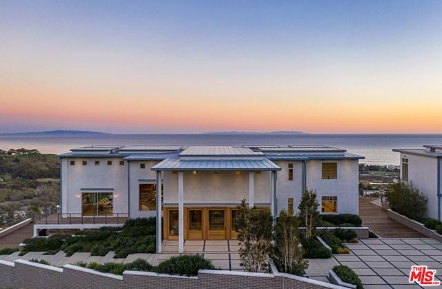 Facade in a $49,500,000 Malibu home for sale