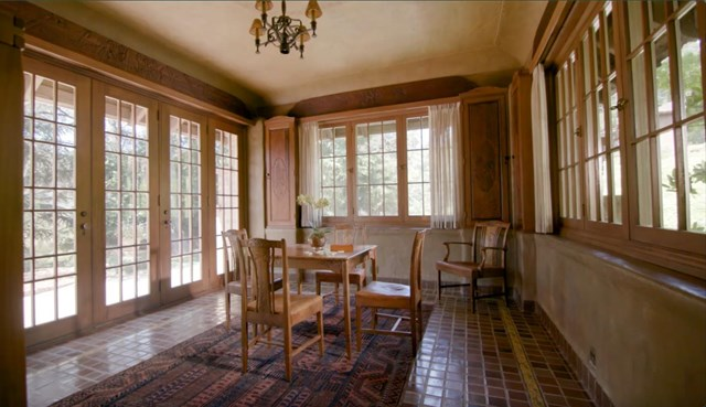 Dining room in a $135,000,000 Woodside home for sale