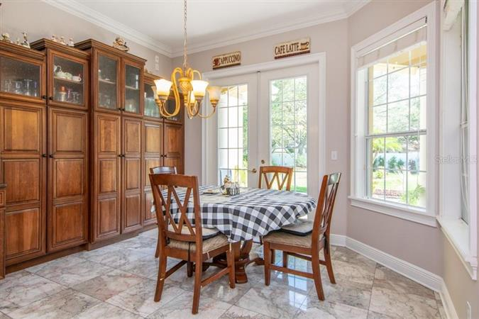 Dining room in a $2,390,000 TAMPA home for sale