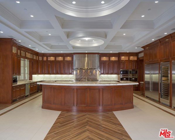 Kitchen in a $79,000,000 Beverly Hills home for sale