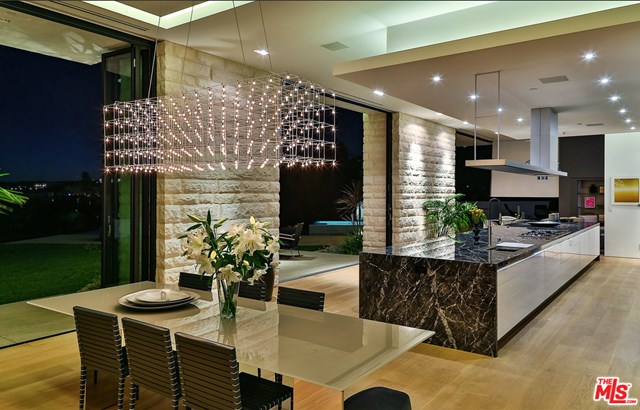 Kitchen in a $27,900,000 Los Angeles home for sale
