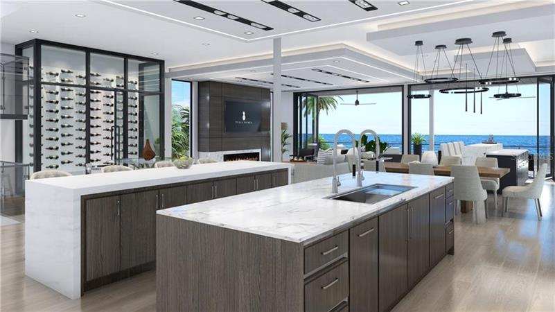 Kitchen in a $7,950,000 REDINGTON BEACH home for sale