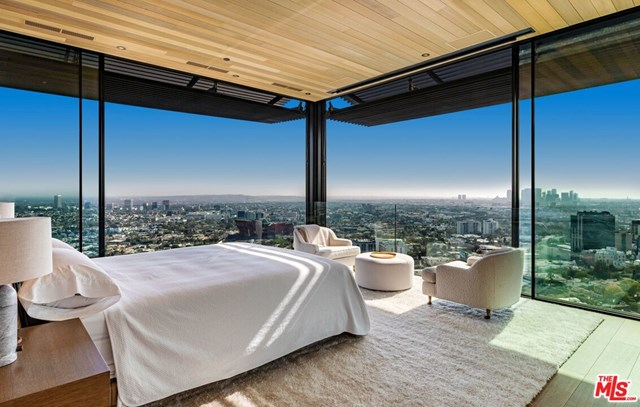 Bedroom in a $54,950,000 Los Angeles home for sale