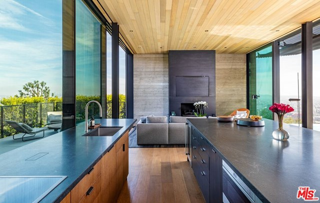 Kitchen in a $54,950,000 Los Angeles home for sale
