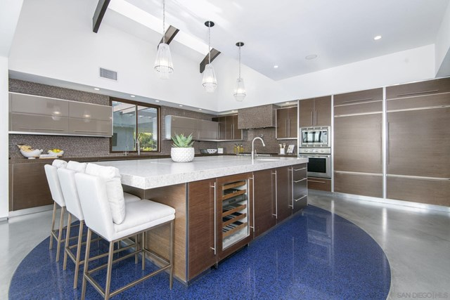 Kitchen in a $9,799,000 San Diego home for sale