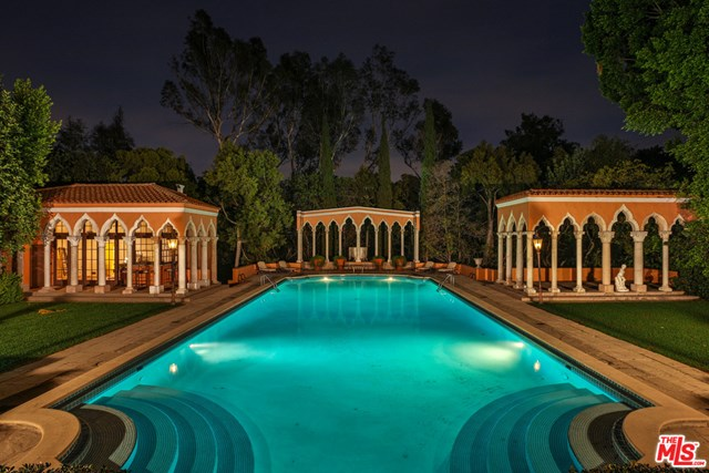 Pool in a $89,750,000 Beverly Hills home for sale