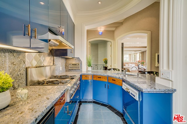 Kitchen in a $11,995,000 Los Angeles home for sale