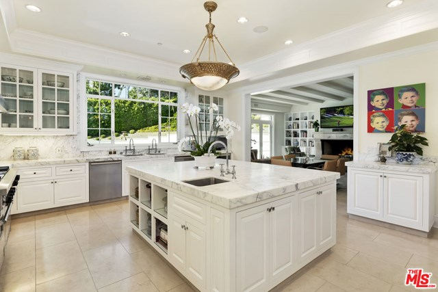 Kitchen in a $59,500,000 Los Angeles home for sale